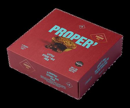 4x STEAK & ALE 'PROPER LITTLE PIES'