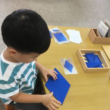 青い直角三角形