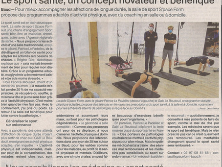 Article Ouest France 23 Oct 2020