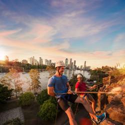 Abseiling at Kangaroo Point Cliffs