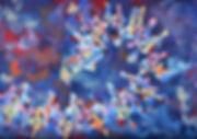 """Drone Spiral"" gouache on paper, 30 x 42 cm [unframed], 2017."