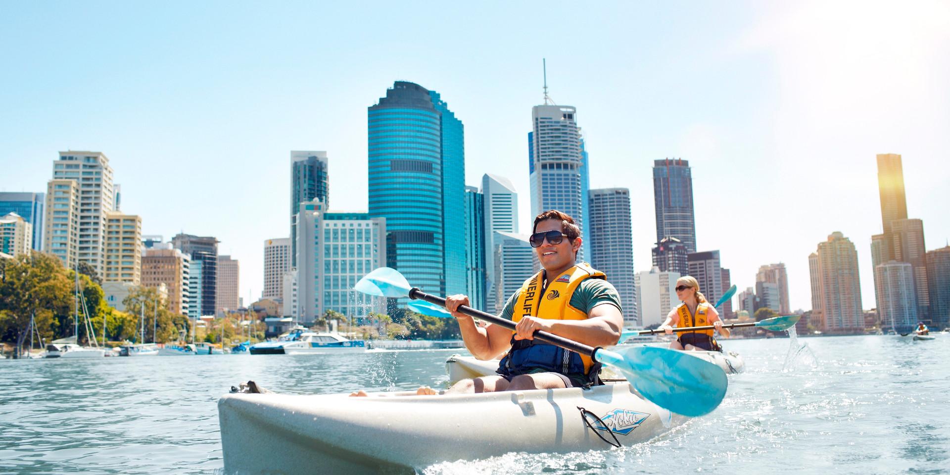 Kaying on Brisbane River