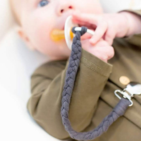 Braided Pacifier Clip - Bundle of 3