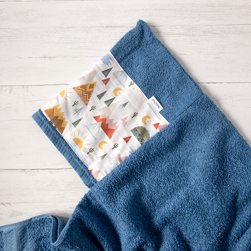 Mountains Hooded Towel