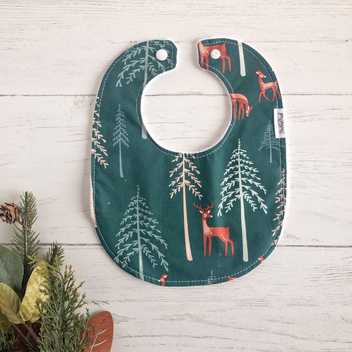 Deer in the Forest Baby Bib