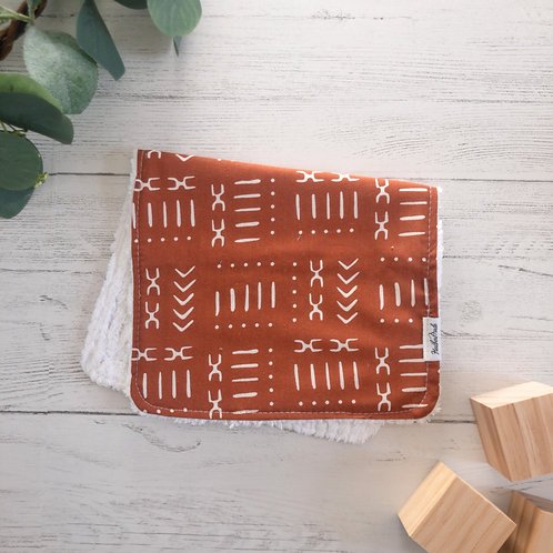 Mudcloth Print Burp Cloth