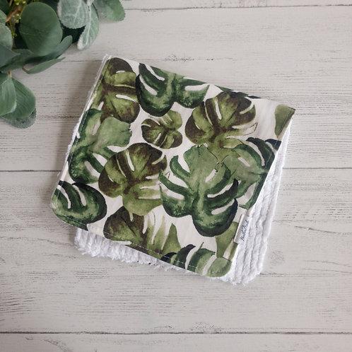 Large Leaves Burp Cloth
