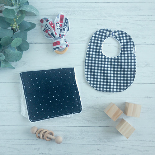Thermos Checkered Baby Gift Bundle