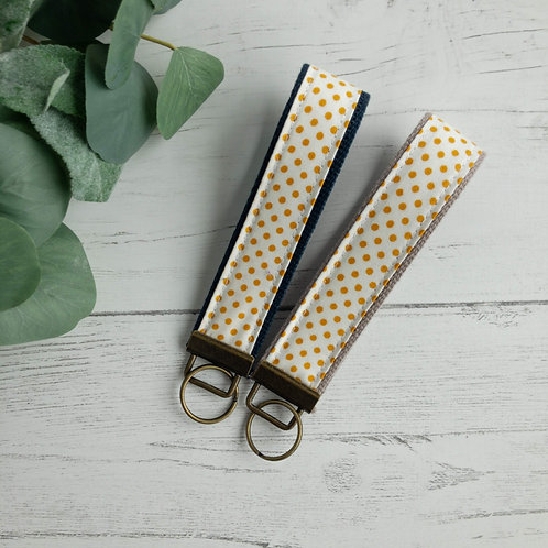 Golden Dots Key Fob