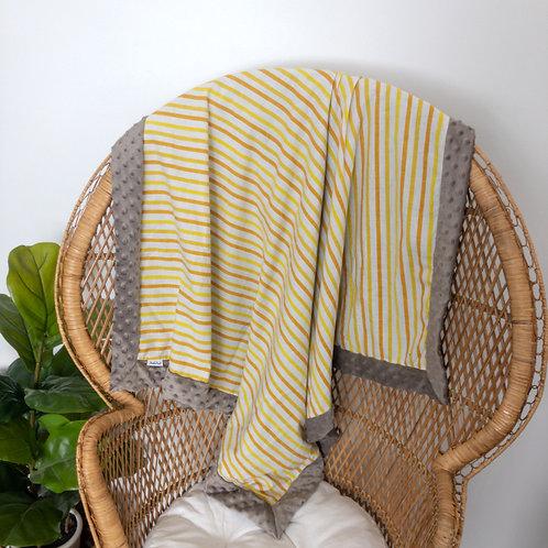 Gold Stripes Vintage Blanket