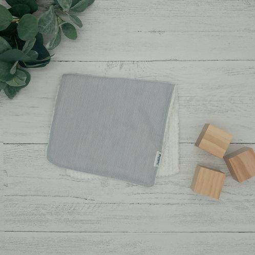 Gray Stripes Chenille Burp Cloth
