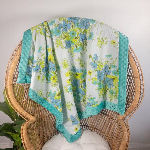 Bright Flowers Vintage Blanket