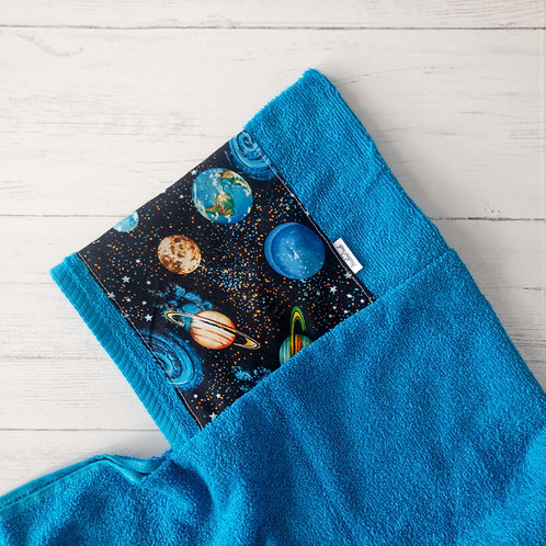 Planets in Space Hooded Towel