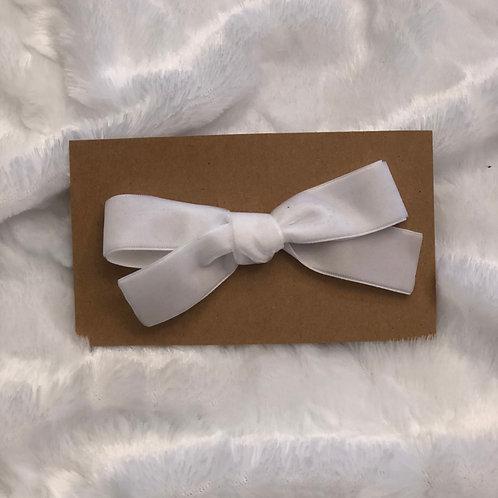 White Velvet Bow