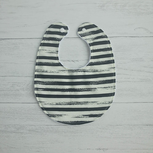 Black & White Stripes Baby Bib