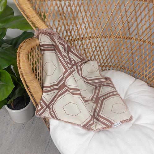 Brown Hexagons Vintage Lovie