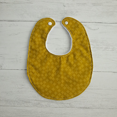 Mustard Speckles Baby Bib