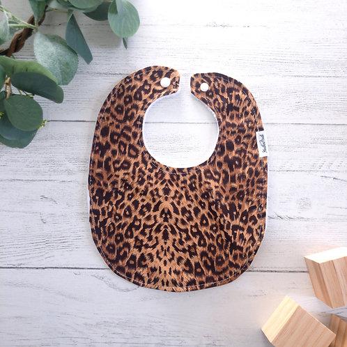 Leopard Print Baby Bib