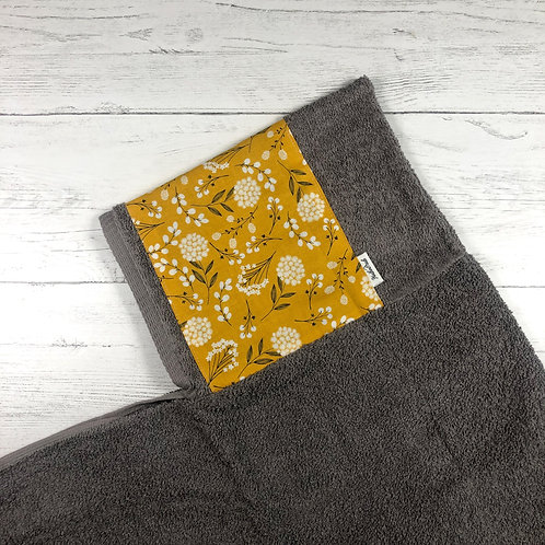 Mustard Flowers Hooded Towel