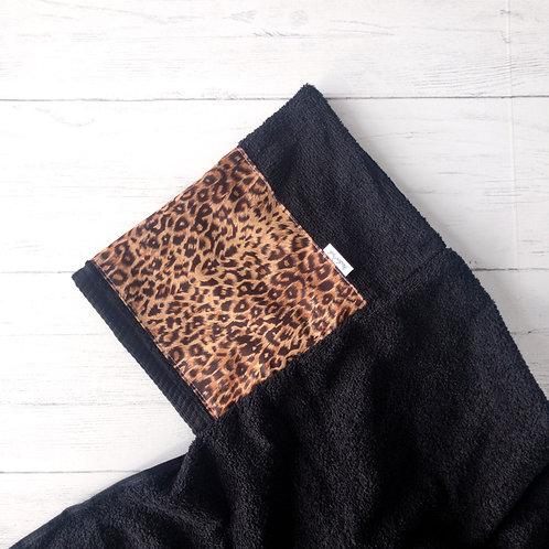 Leopard Print Hooded Towel