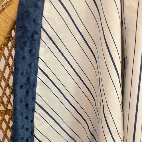 Navy Stripes Vintage Blanket