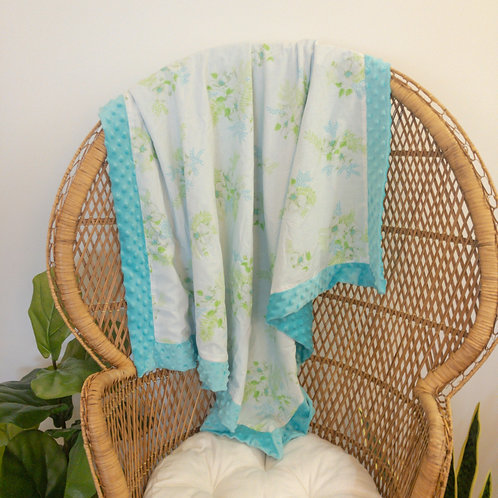 Teal & Green Vintage Sheet Blanket