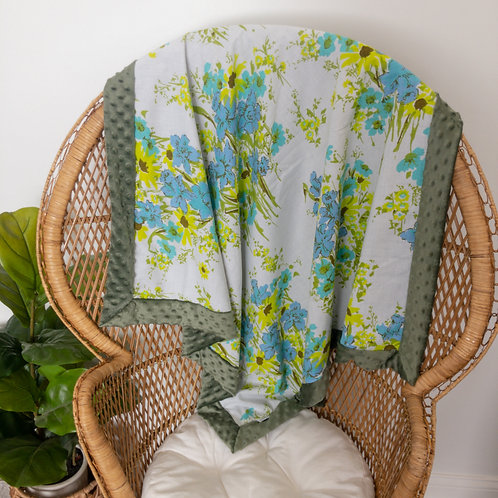 Green Meadow Vintage Blanket
