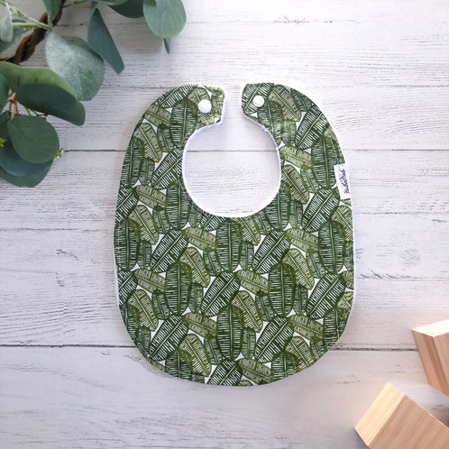 Jungle Leaves Baby Bib