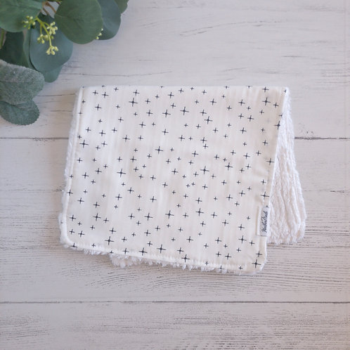 Twinkling Chenille Burp Cloth