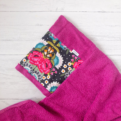 Bright Floral Hooded Towel