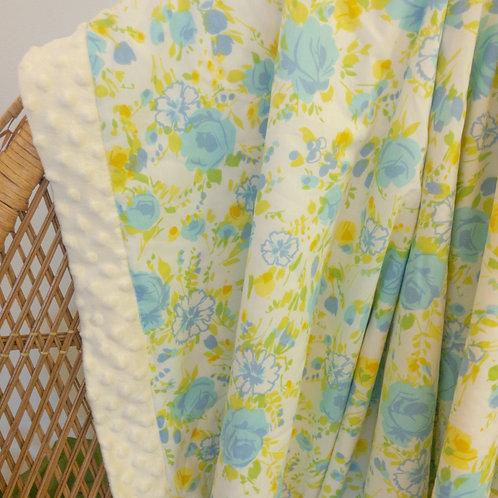 Blue Floral Vintage Blanket