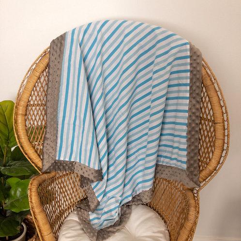 Blue Stripes Vintage Blanket