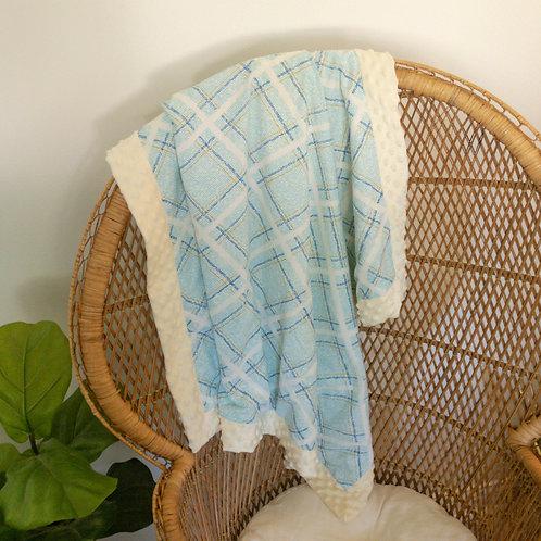 Blue Plaid Vintage Blanket