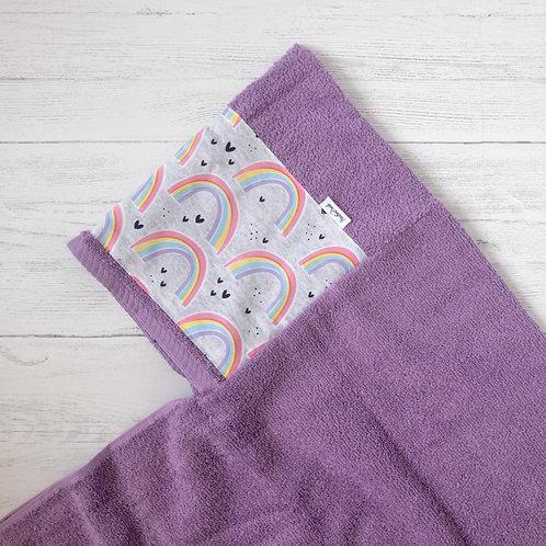 Purple Rainbows Hooded Towel