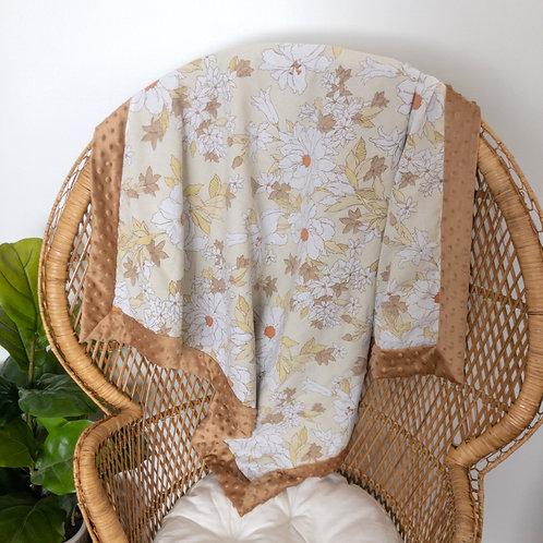 White Floral Vintage Blanket