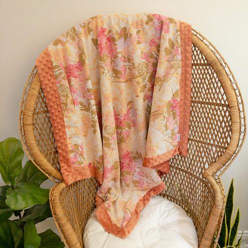 Boho Floral Vintage Blanket