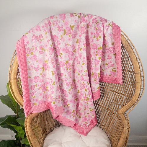 Pink Roses Vintage Blanket