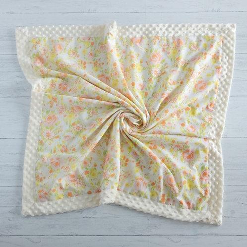 Yellow & Pink Floral Vintage Blanket