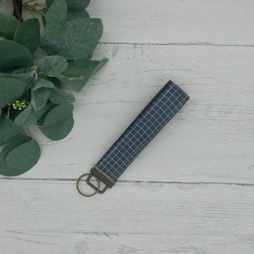 Gray Grid Key Fob