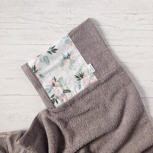Soft Pink Floral Hooded Towel