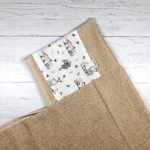 Baby Forest Animals Hooded Towel
