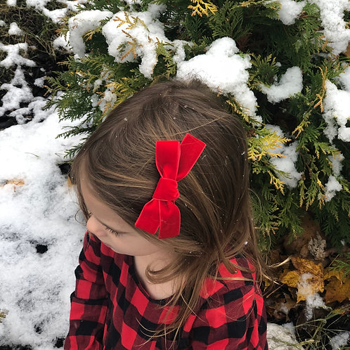 Christmas Red Velvet Bow