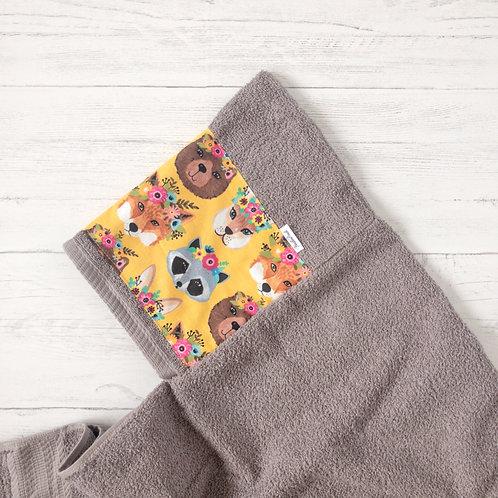 Racoon & Friends Hooded Towel
