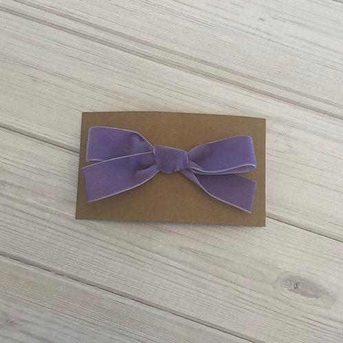 Light Purple Velvet Bow