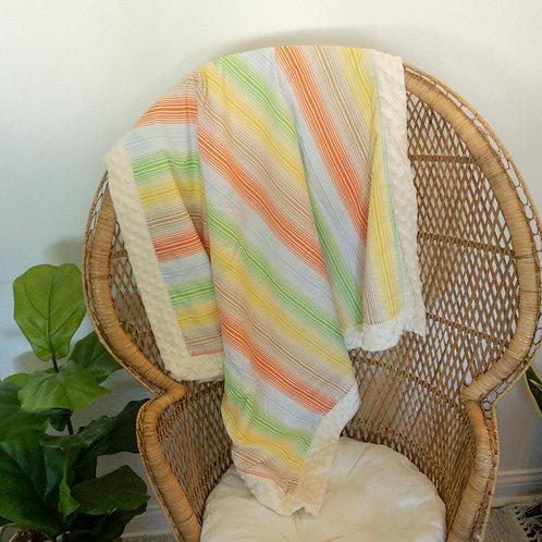 Colorful Stripes Vintage Blanket