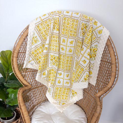 Gold Roses Vintage Blanket