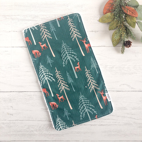 Deer in the Forest Chenille Burp Cloth