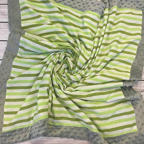Green Stripes Vintage Sheet Blanket