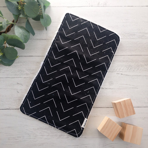 Black Print Burp Cloth