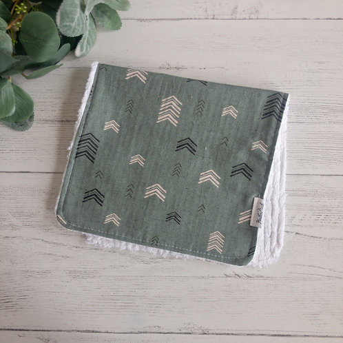 Green Tree Pattern Burp Cloth